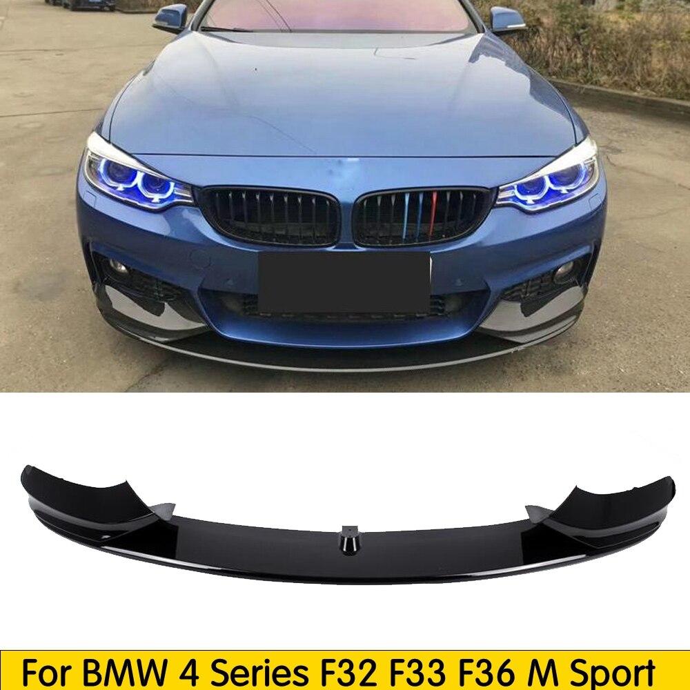 PP brillant noir/mat noir matériel pare-chocs avant lèvre pour BMW 4 série F32 F33 F36 M Sport 425i 430i 440i 2014 2015 2016