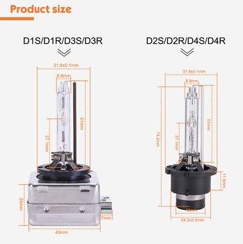 MGTV lumière 2 pièces 12V 35W HID ampoule CBI HID xénon phare D1S D2S D3S D4S D1R D2R D3R D4R xénon lampe lumière 4300K 6000K 8000K 1