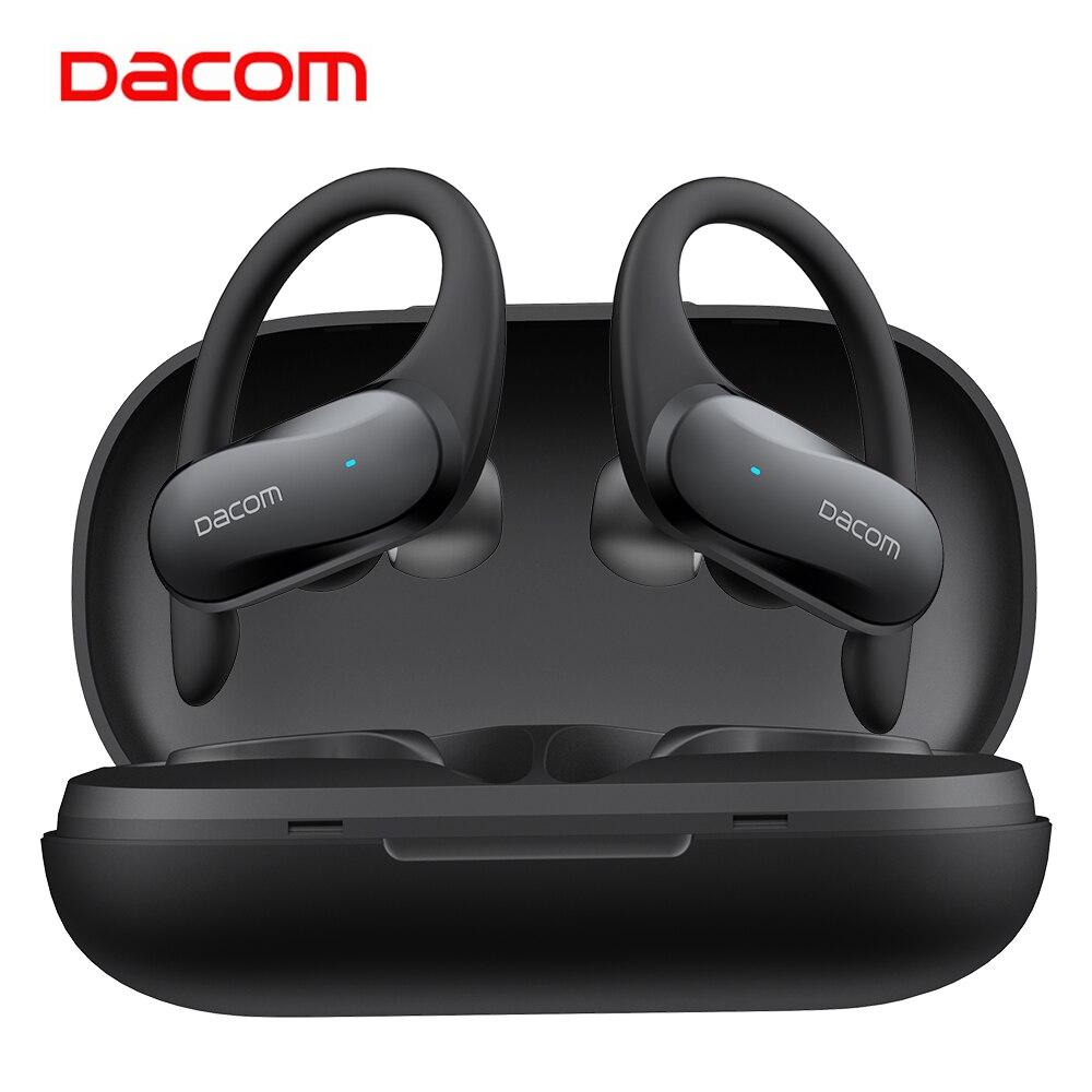 DACOM G05 tws сенсорные беспроводные наушники IPX5 водонепроницаемые спортивные басовые Bluetooth наушники с шумоподавлением наушники с ушным крюком