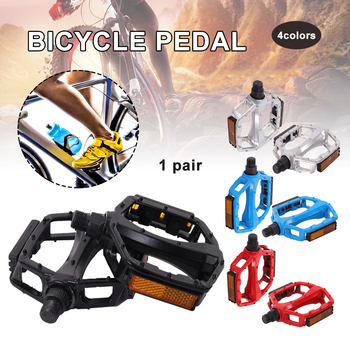 Bicycle Pedals Metal Alloy Flat Platform 9/16 Inch 14mm for Mountain Bike Non-slip Black Pedals image