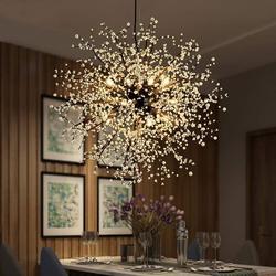 Nowoczesna kryształowa żyrandol kryształowy żyrandol LED żyrandol wisząca lampa dmuchawiec żyrandol lampa do restauracji w Wiszące lampki od Lampy i oświetlenie na