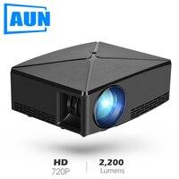 AUN мини-проектор C80UP, разрешение 1280x720 P, Android wifi Proyector, светодиодный портативный 3D проектор для 4K домашнего кинотеатра, опционально C80