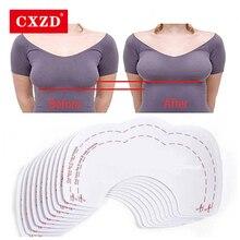 CXZD 10 шт./5 пар, сексуальные женские накладки на соски, невидимые накладки на грудь, подтягивающие бюстгальтер, клейкие ленты, стикеры, одноразовые накладки на грудь
