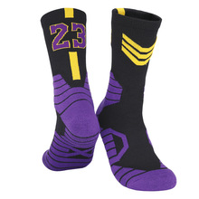 Socks Stocking Basketball-Socks Skateboard Elite Non-Slip Professional Thick 2-Pairs