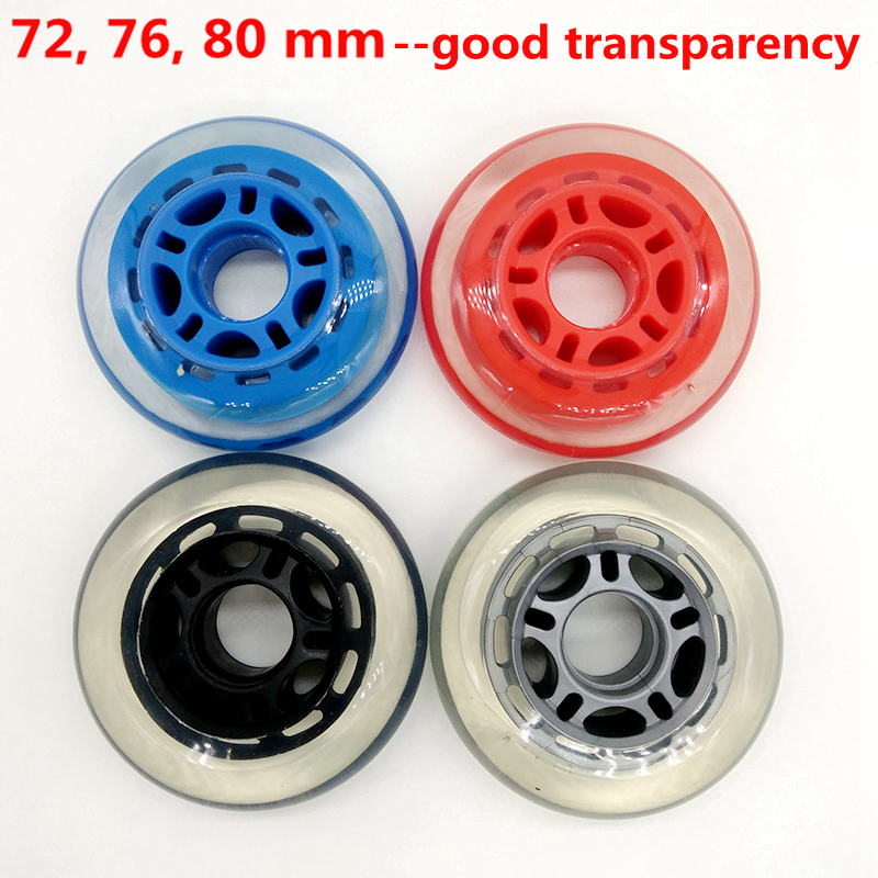 Free Shipping Roller Wheel Transparent Skate Wheel Bearing Abec-9 Abec-7