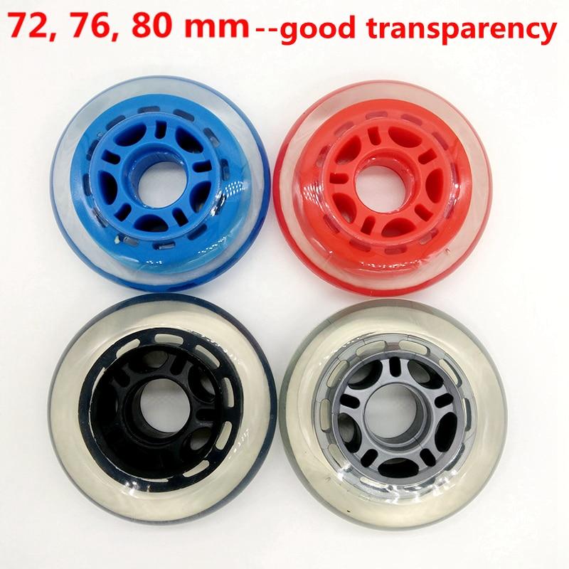 Free Shipping Roller Wheel Transparent Skate Wheel Bearing Abec-9 Abec-7