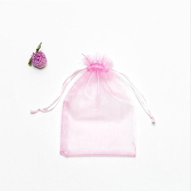 50 шт/лот регулируемая органза сумка для упаковки ювелирных фотография