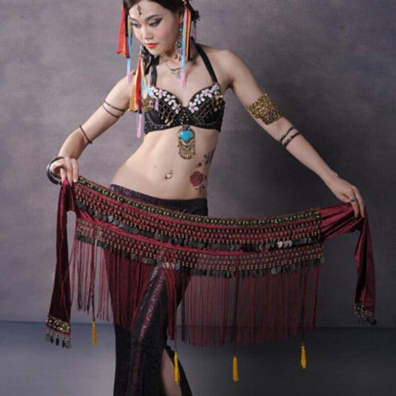 Пояс для танца живота, цепь в этническом стиле, для выступлений, хип-шарф, новинка, кисточка, для занятий спортом, для начинающих, шарф на талию, аксессуары