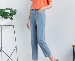 Shang casual pants 2020 summer new high waist was thin and thin nine-point pants women jeans A6621-01-10