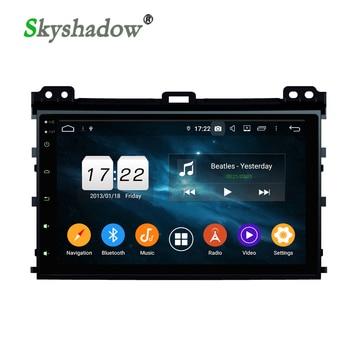 DSP IPS Android 9.0 4GB +32G ROM Car Radio DVD player GPS map RDS Bluetooth Wifi for Toyota Land Cruiser Prado 120 2003-2010