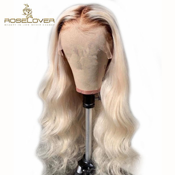 #4/613 Ombre Honey Blonde Body Wave Lace Front Human Hair Wigs Brazilian Remy Hair Pre Plucked with Baby Hair 8-26'' Lace Wigs