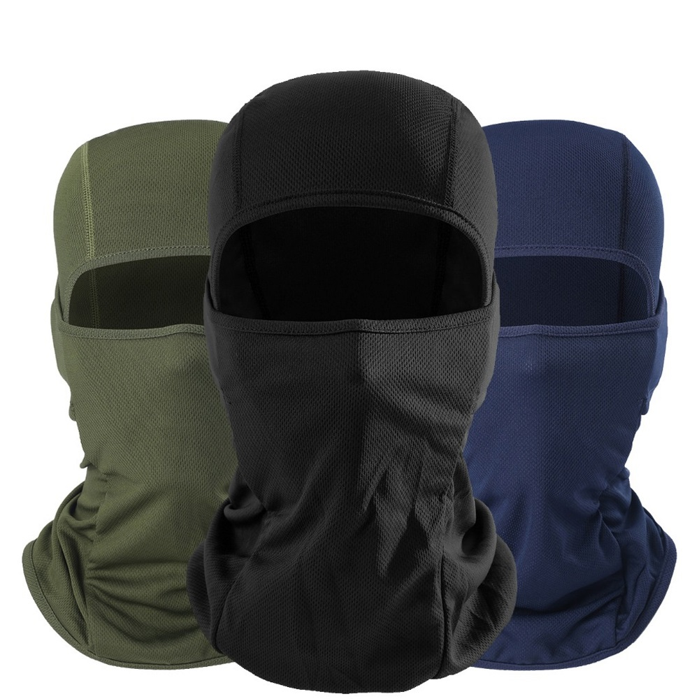 Quick-Drying Breathable Balaclava Full Face Mask Bicycle Hats Tactical Army Airsoft Paintball Winter Warmer Cap Helmet Liner