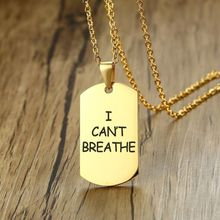 breathe I Cant Breathe Necklace I Can't Breathe DIY Creative Necklace Stainless Steel I Can't Breathe Necklace