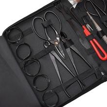 16Pcs Garden Bonsai Tool Set Carbon Steel Kit Cutter Scissors with Nylon Case K888