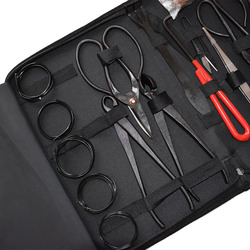 16Pcs Garten Bonsai Werkzeug Set Stahl Kit Cutter Schere mit Nylon Fall K888