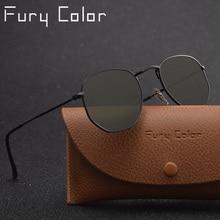 Real glass lens metal hexagonal sunglasses men womne hot HD