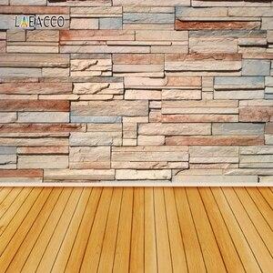 Image 3 - Laeacco muro di mattoni pavimento in legno Grunge ritratto fondali fotografia per bambola Pet vinile sfondi fotografici per Studio fotografico Prop