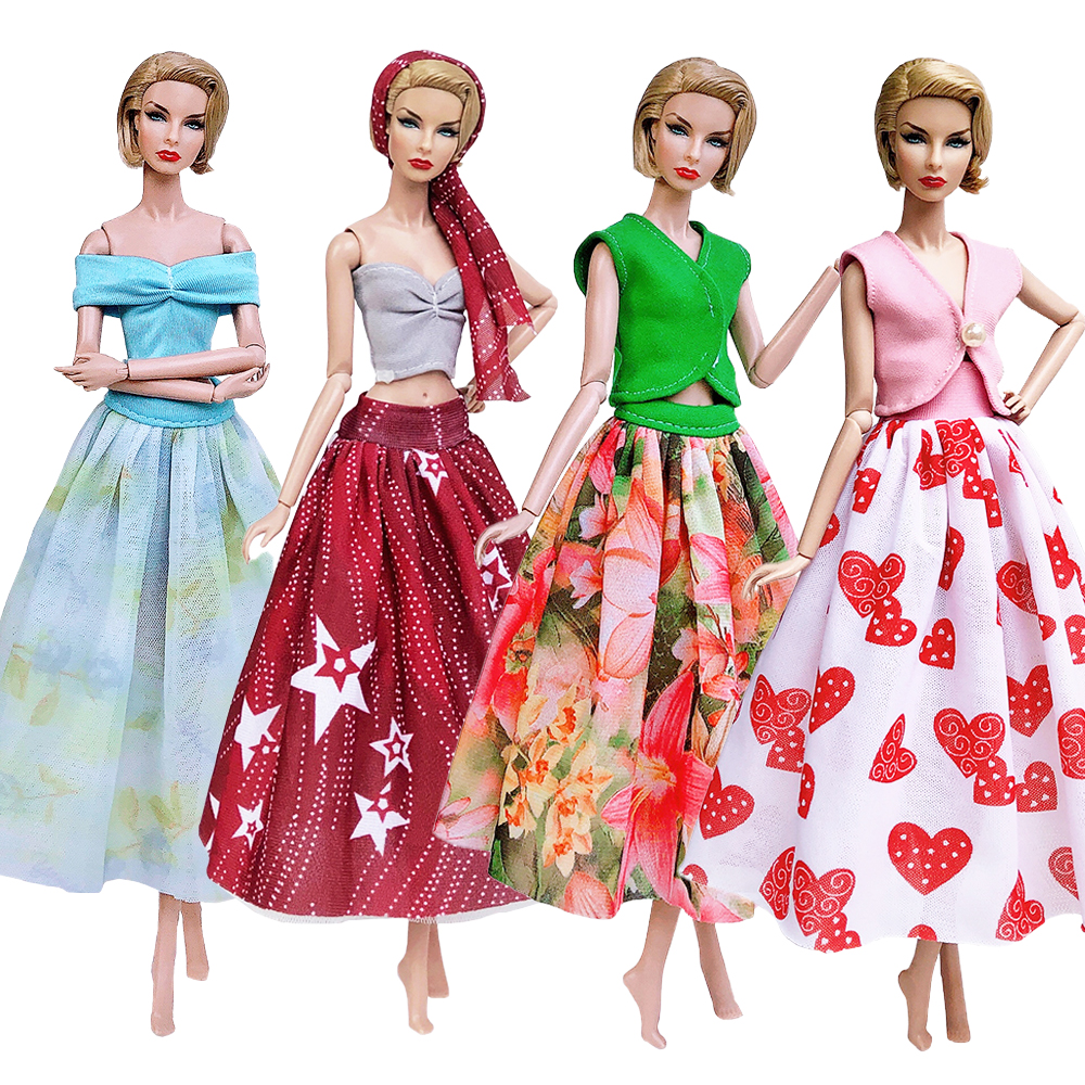 Newest Handmade Best Selling 2019 Products Doll Accessories Dress Clothes For Barbie Toys For Children Best Birthday Gift DIY