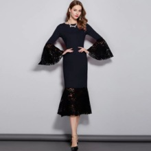 2020 Spring Summer New Formal Gowns Flare Sleeves Mother Of The Bride