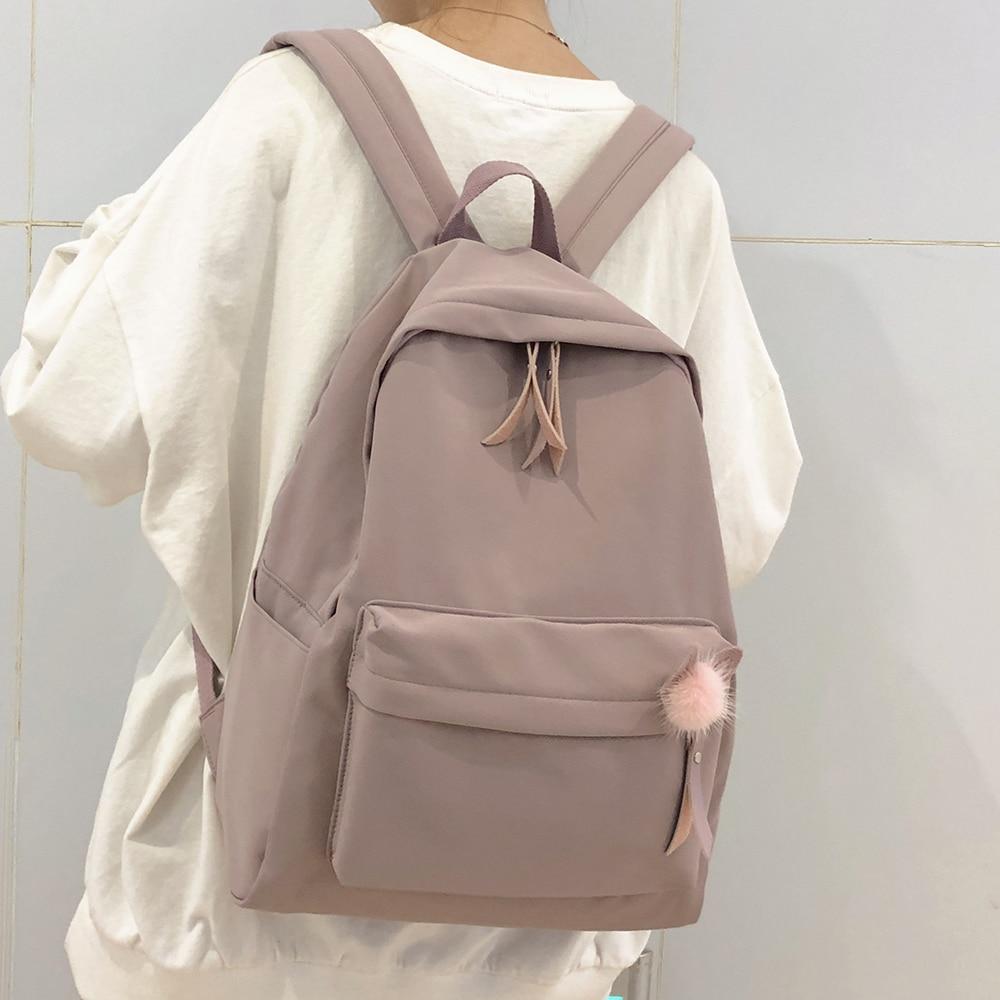 Female Vintage Cute Backpack Women School Bag Girl Waterproof Nylon Kawaii Backpack Ladies Luxury Student Bags Book Harajuku New