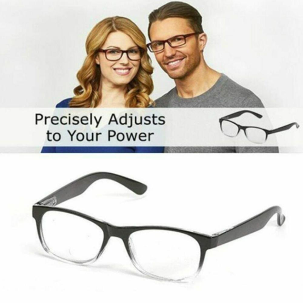 Dial Vision Reading Adjustable Eye <font><b>Glasses</b></font> Clear Focus Auto Adjusting Optic Reading <font><b>Glasses</b></font> ranges from <font><b>0.5</b></font> to 2.75 image