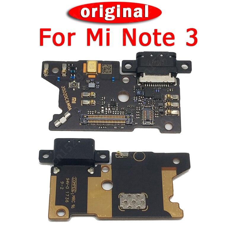 Original Spare Parts For Xiaomi Mi Note 3 Charging Port USB Plug PCB Dork Connector Flex Cable For Mi Note3 Pro Charge Board