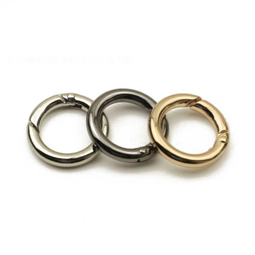 LLavero de Metal con resorte para puerta O anillo de apertura, bolso de cuero, correa para cinturón, hebilla, cadena para perro, cierre de presión, clip disparador, equipaje, artesanía de cuero