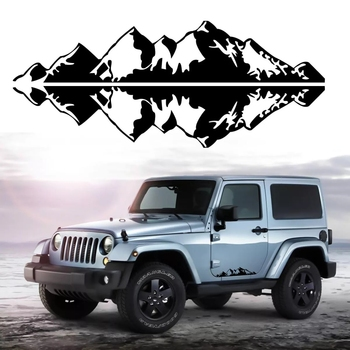 Cartoon Mountain Range Car Sticker for Auto Decal Vinyl Car Window Body Decoration Sticker Car Accessories noizzy 1 set band of brothers ho willys star car auto vinyl reflective sticker decal whole body kit for jeep wrangler cherokee