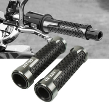 7/8''22mm Motorcycle Rubber Hand Grip Bar handlebar grips Handle Bar Grip Cnc Aluminum For YAMAHA MT-07 MT-09 MT-10 MT-25
