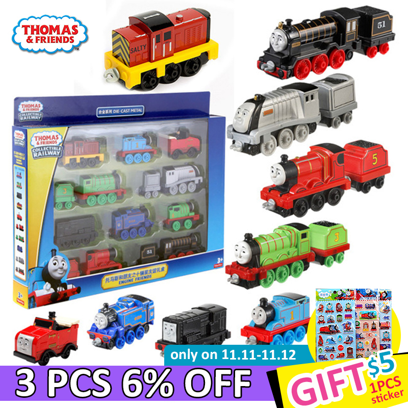 10/trains Original Thomas and Friends Trains Alloy Collection Trackmaster Train Set for Children Diecast Brinquedos Gifts