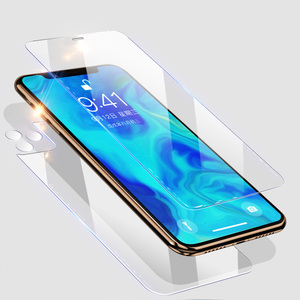 Image 1 - 15H Protective tempered glass for iphone 11 X XS XR MAX glass On iphone 11 pro max screen protector Front and Back and Lens Film