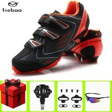 цена Tiebao Cycling shoes MTB Mountain Bike Shoes Racing Bike SPD pedals set Sneakers Mens Self-Locking Athletic Riding Bicycle Shoes онлайн в 2017 году
