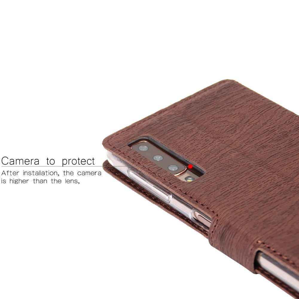 Ciuman PU Kulit Flip Dompet Case untuk Samsung Galaxy S10E S8/S9/S10 Plus S7/S6 Edge note 8 9 Ponsel Pemegang Berdiri Tas Kantong