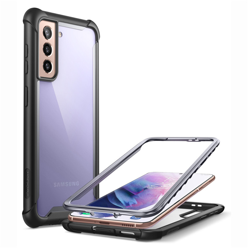 For Samsung Galaxy S21 Case 6.2Inch (2021 Release) Ares Full-Body Rugged Bumper Cover WITHOUT Built-In Screen Protector