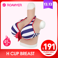 Roanyer crossdress artificial silicone big breast forms fake Boobs h Cup for crossdresser pechos shemale transgender drag queen