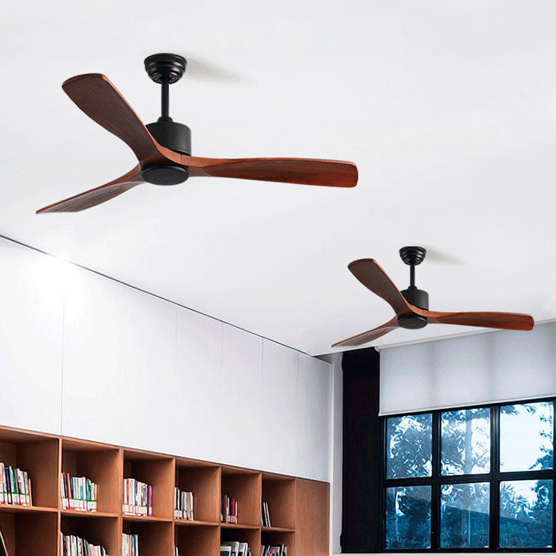 Selfless Industrial Vintage Ceiling Fan Without Lights With Remote Control Ventilador De Techo 220v Bedroom 52inch Ceiling Fan