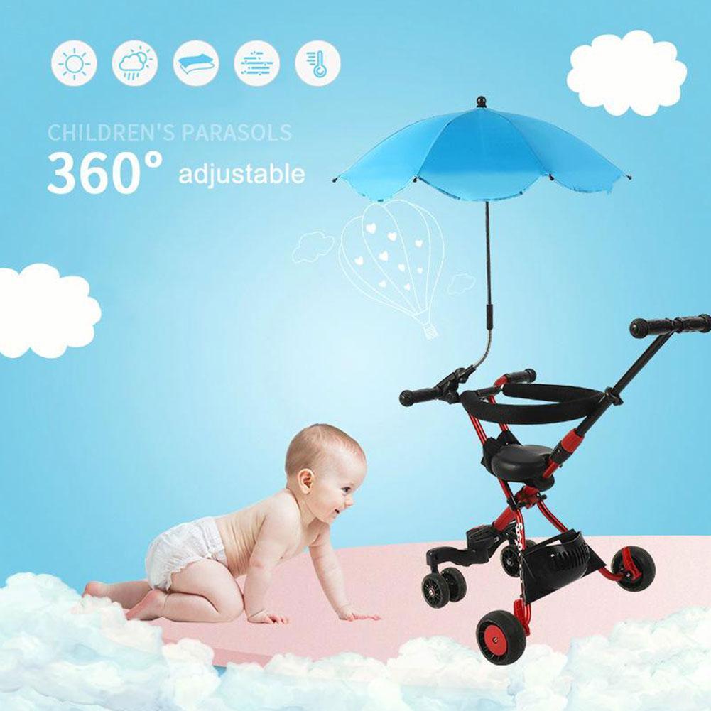 Mult-color Adjustable Stroller Umbrella Rain UV Protection Baby Pram Sun Shade Parasol Anti-Sai Umbrellas For Strollers Tool