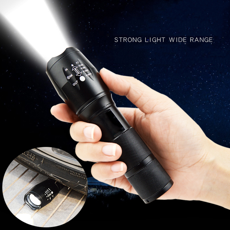 Z45 Led Flashlight Ultra Bright Waterproof MINI Torch T6/L2/V6 zoomable 5 Modes 18650 rechargeable Battery for camping tactical Pakistan