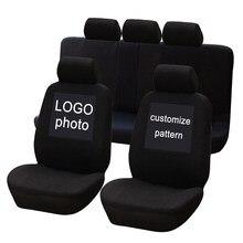 Evrensel araba koltuğu kaplaması kafatası temaları Polyester kumaş otomobil koltuk kılıfları araç koltuğu koruyucu iç aksesuarları