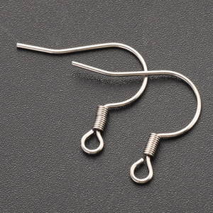 100pcs/lot 18x18mm Silver Tone Stainless Steel Earring Hooks Clasp Earring Wires with Nickel Free DIY Jewelry Making Accessories
