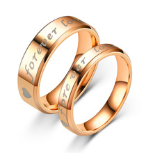 2020 new popular FOREVER LOVE couple ring stainless steel jewelry пальто forever new forever new mp002xw1gqmp