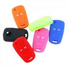 6 Colors 2 Buttons Silicone Flip Folding Car Key Cover for Vauxhall  Opel Corsa Astra Vectra Signum New Arrival