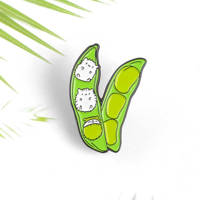 Qihe Perhiasan Greenbean Pin Penetasan Elf Bros Denim Jeans Tas Bros untuk Wanita Cute Kawaii Perhiasan Hadiah untuk Teman-teman