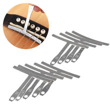 9pcs Understring Radius Gauge Stainless Steel For Guitar Bass Fingerboard Setup Bridge Saddle Adjust Luthier Tools Guitar Parts(China)