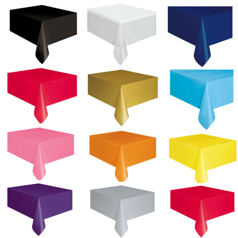 Rectange פלסטיק TABLECOVERS בד שולחן כיסוי לקייטרינג מסיבת אירועים כלי שולחן