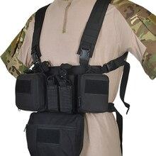 CS Match Wargame TCM Грудь Rig страйкбол тактический жилет военная упаковка сумка для журналов Молл система талии мужчины нейлон