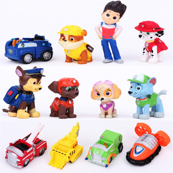 12pcs/set Paw Patrol Toys Anime Doll Action Figures Car Patrol Puppy Toy Gift for Child new led flashlight keychina with sound action toy figures raving rabbids keychain toys gift for child kids toys