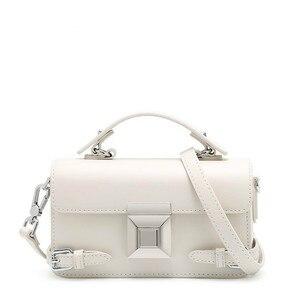 Женская белая сумка в коробке, дамские сумки-мессенджеры, сумка на плечо из натуральной кожи от известного бренда, женская сумка для девочек...