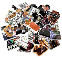 66pcs Friends tv show funny Creative badges DIY decorative stickers Cartoon PC wall notebook phone Waterproof sunfast sticker