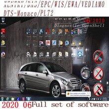 أحدث شامل 2020.09 MB STAR C4 C5 6 VCI برنامج كامل XENTRYSCN/داسيبك/ويس/Starfinder/EWA/VEDIAMO/DTS موناكو HDD/SSD